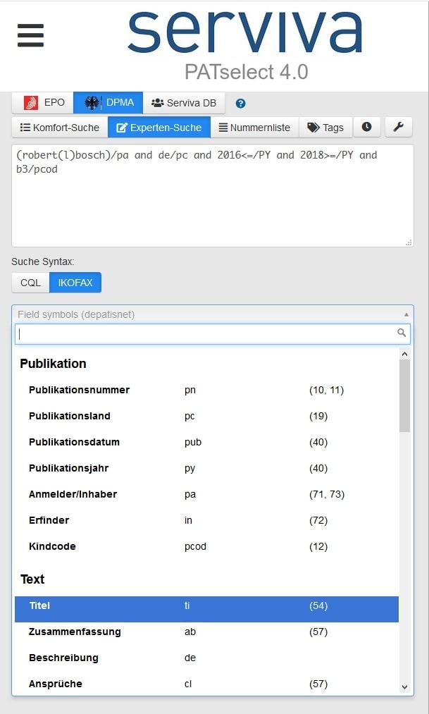 Formular PATselect 4.0 - Test 5